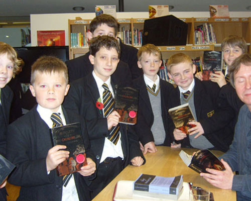 year 8 get their books signed